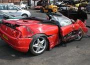 man crashes his ferrari f355 spider to avoid hitting a fox-316485