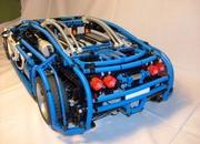 bugatti veyron built from lego blocks-345063