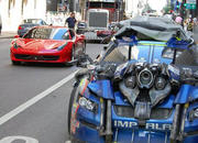 ferrari 458 italia caught on transformers 3 stage 2