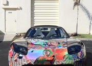 tesla roadster art car by laurence gartel-385667