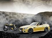 mercedes slk 55 amg streetfighter yellow-428510