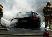 -lamborghini aventador goes up in flames in southern california