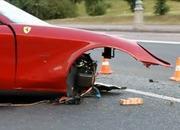 horrific russian crash splits ferrari 612 scaglietti in two 2