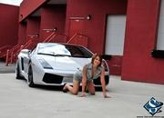 ashley models with a lamborghini gallardo and bmw m3 sport pack-474645