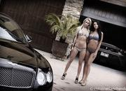 our carwash dreams come to life with two babes cleaning a ferrari 430 scuderia and a bentley continental gt-478585