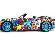 porsche 911 cabriolet art car by romero britto-485715